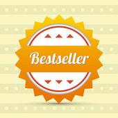 Label - Bestseller. Vector — Stock Vector