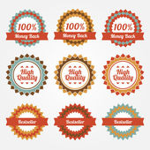 Collection of sale badges, labels. — Stock Vector
