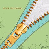 Vector background with zipper — Stock Vector