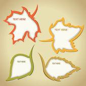 Vector frames of leaves — Stock Vector
