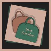 Woman bags, vector — Stock Vector