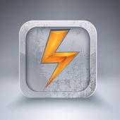 Vector electricity 3d icon — Stock Vector