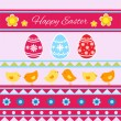 Stock Vector: Happy Easter Card