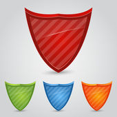 Set of colored shields — Stock Vector