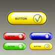 Web buttons — Vettoriale Stock #21362635