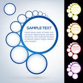 Abstract web design bubbles — Stock Vector