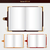 Open notepads — Stock Vector