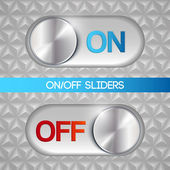 On-off slider — Stock Vector