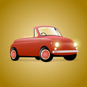 Red retro cabrio — Stock Vector