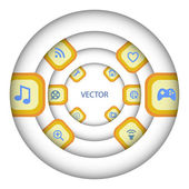 Media player icon set — Stock Vector