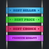 Colorful ribbon promotional products design — Vector de stock