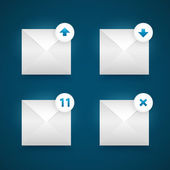Vector email icons set — Stock Vector