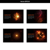 Set of abstract orange backgrounds — Stock Vector