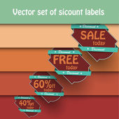 Vector set of vintage labels — Vettoriale Stock
