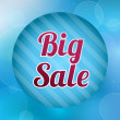 Big sale sign — Vettoriale Stock #21456937
