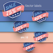 Vector set of vintage labels — Stock Vector