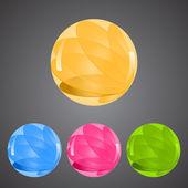 Vector color balls — Stock Vector