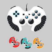 Set of gamepads — Stock Vector