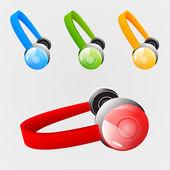 Set of headphones — Stock Vector