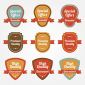Collection of sale shields, labels. — Stock Vector