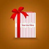 Gift vector with bow — Stock Vector