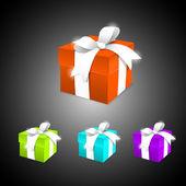 Conjunto de caixas de presente — Vetor de Stock