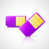 Vector SIM cards — Stock Vector