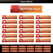 Set of vector icon buttons — Stock Vector
