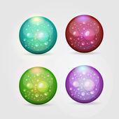Vector set of colored aqua buttons — Stock Vector