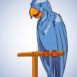 Blue parrot — Stockvectorbeeld