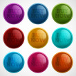 Set of colored buttons - buy now — Stock Vector