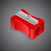 Red pencil sharpener — Stock Vector