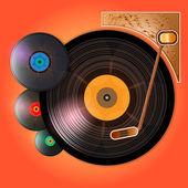Vinyl records — Stock Vector