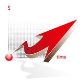 Vector red arrow — Stock Vector