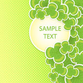 Clover vector background — Stock Vector