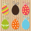 Bright easter eggs card — Imagen vectorial