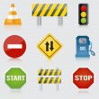 Road and highway signs. Vector — Stock Vector #22144901