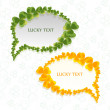 Speech bubbles for st Patrick's day — Stock Vector