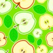 Stock Vector: Background with apples.