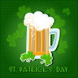St Patricks day background with beer. — Stock Vector