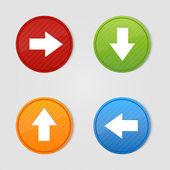 Colored arrow sign vector — Stock Vector