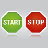 Start Stop vector banner — Stock Vector