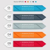 Banners met getallen. — Stockvector