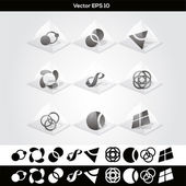 Vector abstract buttons. — Stock Vector