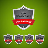 Guarantee shields. — Stock Vector