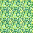 Green background with circles. — Grafika wektorowa