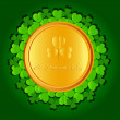Stock Vector: St Patricks day background.