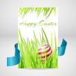 Greeting card for happy easter with eggs. — Stock Vector