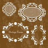Set of vector vintage frames — Stock Vector