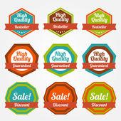 Vintage labels for sale. — Stock Vector